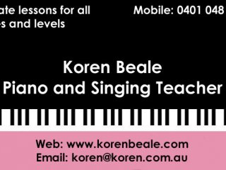 Koren Beale Piano and Singing