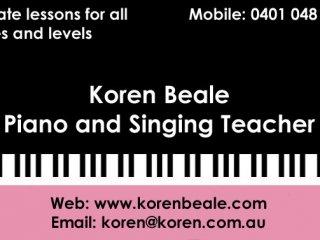 Koren Beale Piano and Singing
