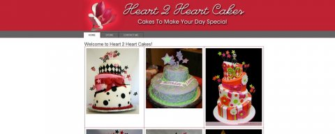 "<span style=""color: #0FC7FF;"">Heart 2 Heart Cakes</span>"
